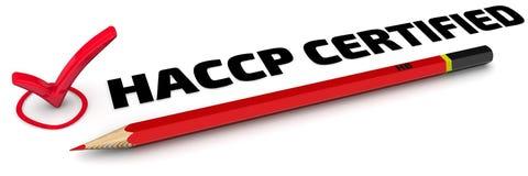 被证明的HACCP 标记 库存照片