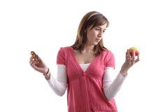 被诱惑的食物健康旧货 免版税库存图片
