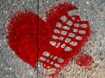 被践踏的心脏 免版税图库摄影