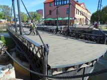 被转动的桥梁,立陶宛 图库摄影