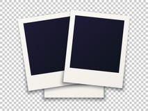 被转动的照片框架概念,在透明背景的对象 免版税库存图片