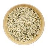 被轰击的大麻籽 免版税库存照片