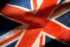 被过滤的难看的东西,英国旗子 免版税库存照片