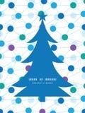 被连接的传染媒介加点圣诞树剪影 免版税库存图片