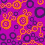 被连接的桃红色察觉样式 模式无缝的墙纸 库存照片