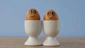 被迷恋的鸡蛋 免版税库存照片