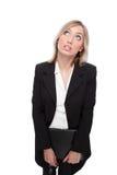 被迷惑的企业纵向妇女 库存图片
