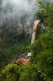 被迷惑的瀑布在密西昂奈斯地区,北部阿根廷 免版税库存图片
