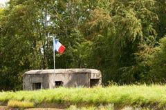 被遣散的法国防御 库存照片