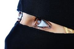 被遮掩的妇女 免版税库存图片
