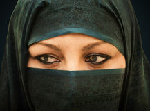 被遮掩的妇女 库存照片