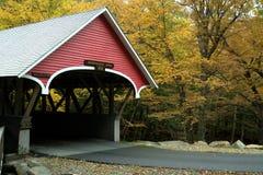 被遮盖的桥在秋天 免版税库存照片