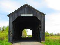被遮盖的桥锯木厂小河新不伦瑞克 免版税库存图片
