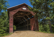 被遮盖的桥 免版税库存图片