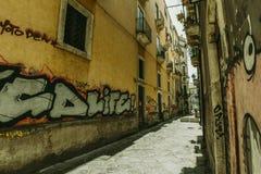 被采取的街道画意大利意大利米兰照片 库存图片