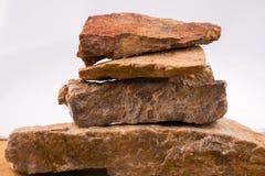 被重叠的岩石 免版税库存照片