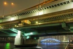 被重叠的桥梁 免版税图库摄影