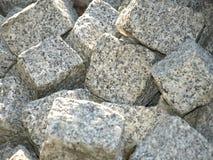 被重合的石头块 库存图片