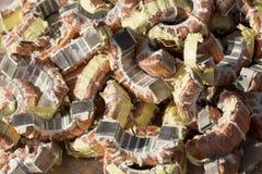 被重复利用的铜回收 免版税库存图片