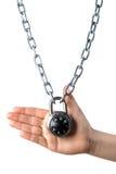 被锁定的链现有量藏品 库存照片