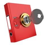 被锁定的黏合剂文件夹 免版税库存照片