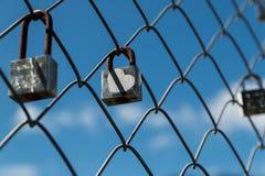 被锁的爱 库存图片