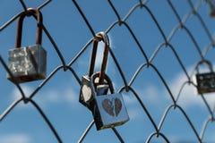 被锁的爱 免版税库存照片