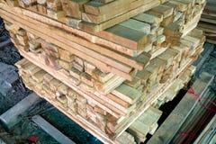 被锯的栈木材 免版税图库摄影