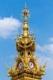 被镀金的钟楼 库存图片