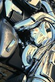 被镀铬的自行车引擎 库存照片