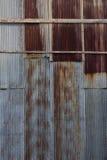 被镀锌的老生锈 免版税库存照片