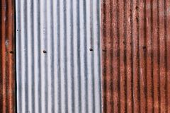 被镀锌的老生锈 wheathered铁锈和被抓的钢textur 库存照片