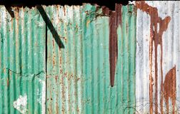 被镀锌的铁屋顶 库存照片