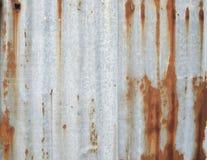 被镀锌的铁板材 免版税库存图片