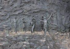 被镀青铜的maquette,自由雕塑, Zenos Frudakis,费城 免版税库存图片