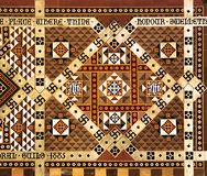 被镶嵌的大理石马赛克壁画 免版税库存照片