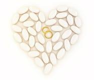 被镶嵌的金重点敲响婚姻的石头 向量例证