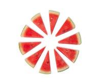 被长卷毛的西瓜属是夏天果子 库存图片