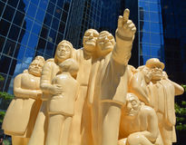 `被阐明的人群` 免版税库存图片