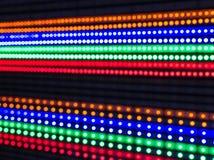 被阐明的LED光行  图库摄影