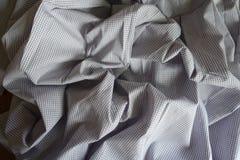 被阻塞的浅灰色的经典方格的棉花 库存照片