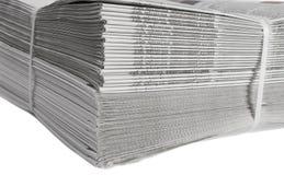 被限制的报纸打印了 免版税库存照片