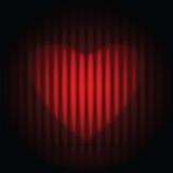 被限制的日重点例证s二华伦泰向量 库存照片