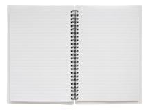 被限制的笔记本开放螺旋机智 免版税库存照片