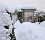 被限制的雪 免版税库存照片