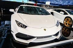 被限制的DMC异乎寻常汽车调整,汽车展示会日内瓦2015年 免版税库存图片