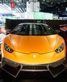 被限制的DMC异乎寻常汽车调整,汽车展示会日内瓦2015年 免版税库存照片