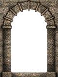 被隔绝的中世纪曲拱 库存图片