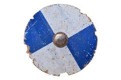 被隔绝的中世纪盾 库存图片