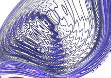 被隔绝的动态蓝色微小波浪 库存图片